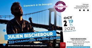 Concert : Julien Bischerour @ Art'Kfé   Libourne   Nouvelle-Aquitaine   France