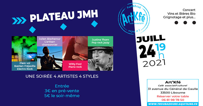 You are currently viewing Apéro concert : Plateau JMH